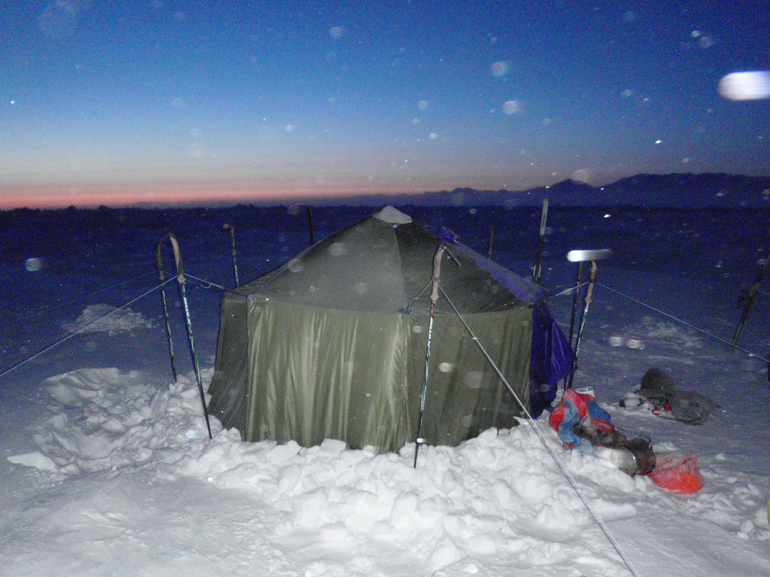 Tent on the Arctic ocean